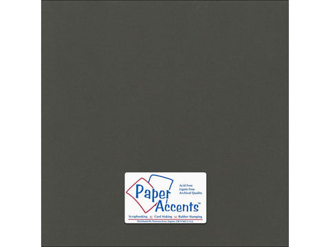 "Paper Accents™ Cardstock 12""x 12"" Canvas 80# Espresso Bean - Two Sheets"