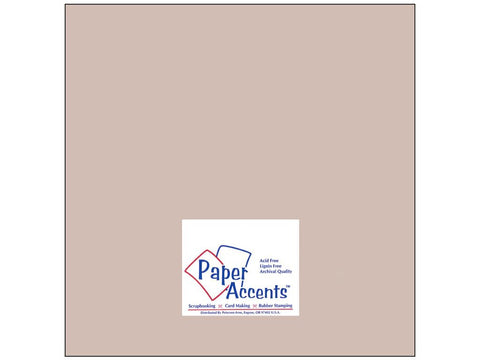 "Paper Accents™ Cardstock 12""x 12"" Muslin 74# Hurricane - Two Sheets"