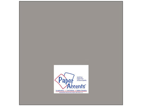 "Paper Accents™ Cardstock 12""x 12"" Muslin 74# Nor'easter - Two Sheets"
