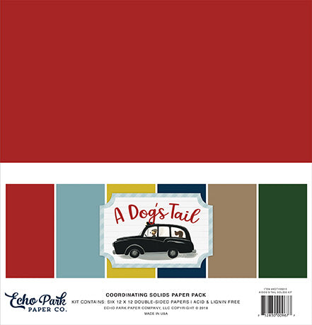 Echo Park Solids Paper Pack - A Dog's Tail - Paper Pack
