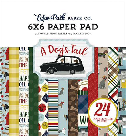 Echo Park 6x6 Pad - A Dog's Tail