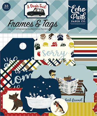 Echo Park Frames & Tags Die-Cuts - A Dog's Tail