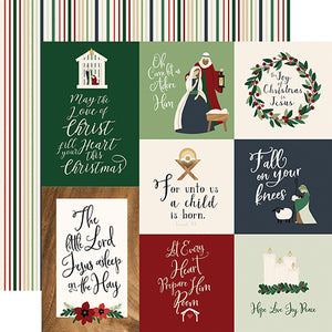 Echo Park Cut-Outs - Away In a Manger - Journaling Cards