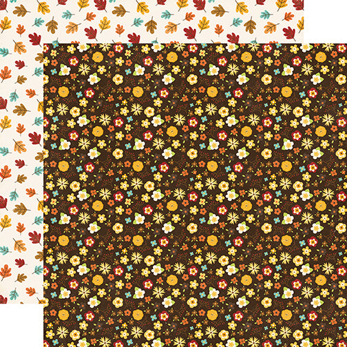Echo Park Papers - A Perfect Autumn - Autumn Bouquet - 2 Sheets
