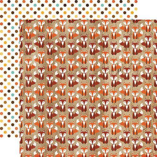 Echo Park Papers - A Perfect Autumn - Silly Fox - 2 Sheets
