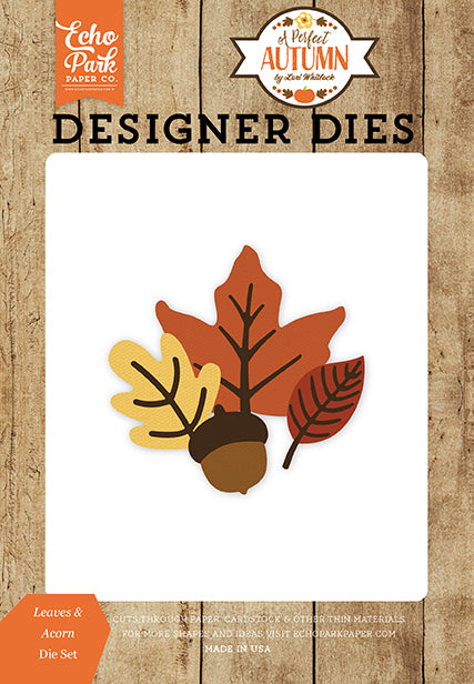 Echo Park Designer Dies - A Perfect Autumn - Leaves & Acorn Set