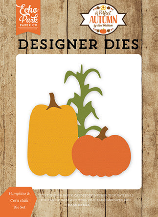 Echo Park Designer Dies - A Perfect Autumn - Pumpkins & Cornstalk Set