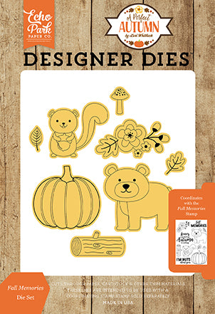 Echo Park Stamp and Die Set - A Perfect Autumn - Fall Memories