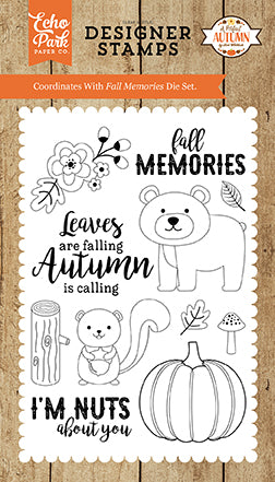 Echo Park Clear Stamp Set - A Perfect Autumn - Fall Memories