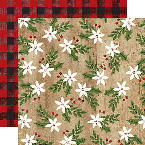 Echo Park Papers - A Perfect Christmas - Merry Mistletoe - 2 Sheets