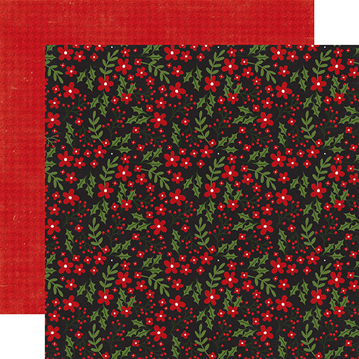 Echo Park Papers - A Perfect Christmas - Berry Merry Christmas - 2 Sheets