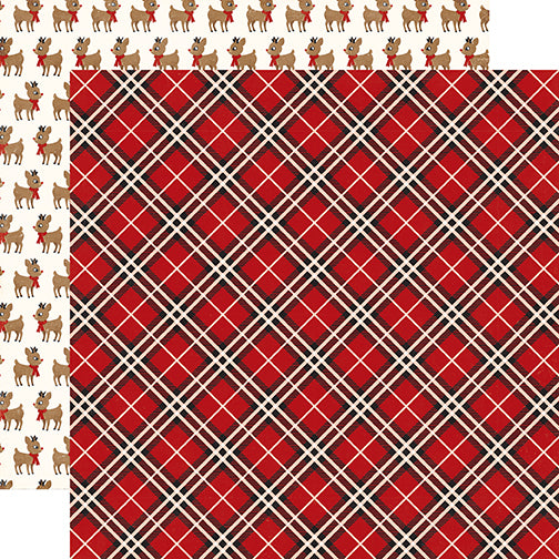 Echo Park Papers - A Perfect Christmas - Perfect Plaid - 2 Sheets