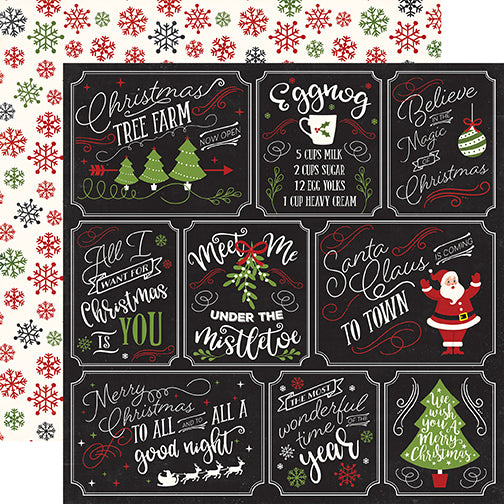 Echo Park Cut-Outs - A Perfect Christmas - Multi Journaling Cards
