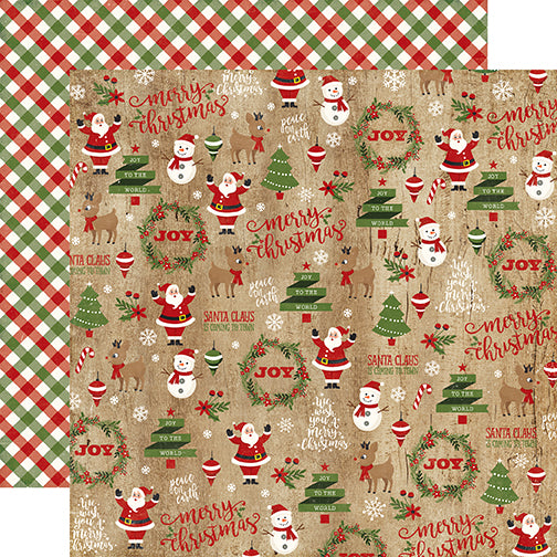 Echo Park Papers - A Perfect Christmas - Christmas Collage - 2 Sheets