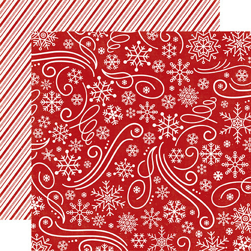 Echo Park Papers - A Perfect Christmas - Snowflake Swirl - 2 Sheets