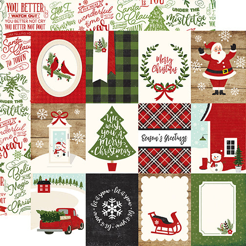 Echo Park Cut-Outs - A Perfect Christmas - 3x4 Journaling Cards