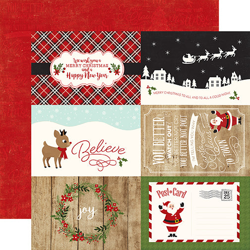 Echo Park Cut-Outs - A Perfect Christmas - 4x6 Journaling Cards