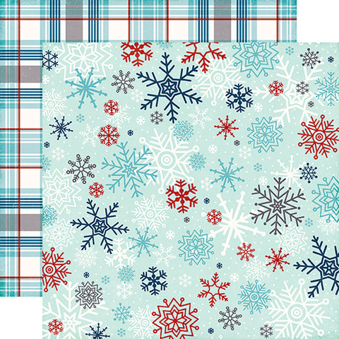 Echo Park Papers - A Perfect Winter - Snowflake Flurry - 2 Sheets