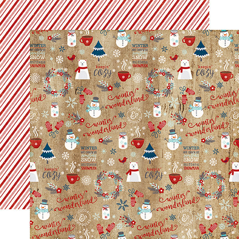 Echo Park Papers - A Perfect Winter - Winter Wonderland - 2 Sheets