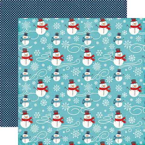 Echo Park Papers - A Perfect Winter - Snowmen Fun - 2 Sheets