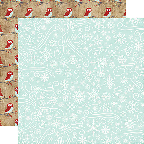 Echo Park Papers - A Perfect Winter - Snowflake Swirls - 2 Sheets
