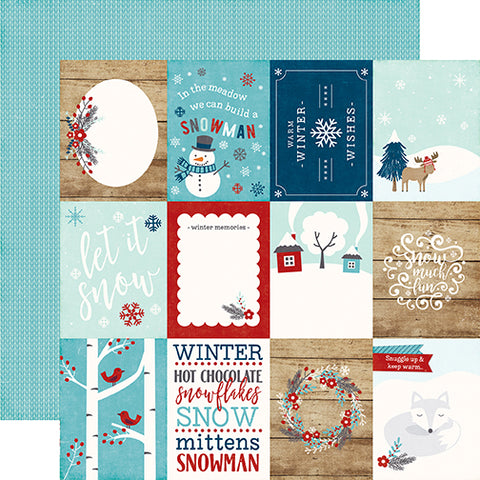 Echo Park Cut-Outs - A Perfect Winter - 3x4 Journaling Cards