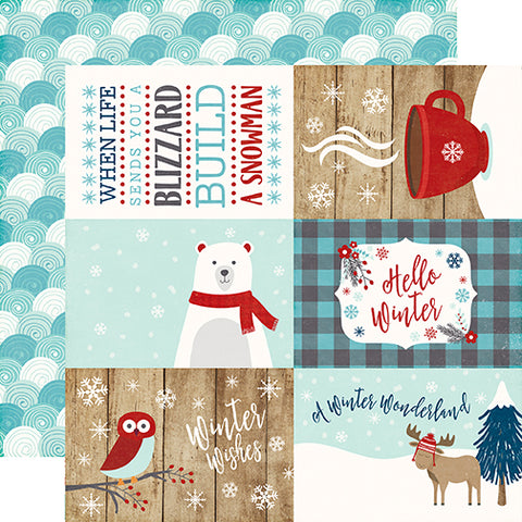 Echo Park Cut-Outs - A Perfect Winter - 4x6 Journaling Cards