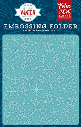 Echo Park Embossing Folder - A Perfect Winter - Frosty Snowflakes