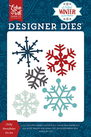 Echo Park Designer Dies - A Perfect Winter - Chilly Snowflakes Set