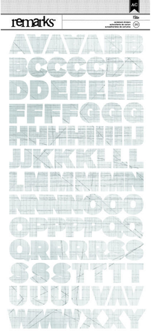 American Crafts Cardstock Stickers - Remarks - Allie Alpha
