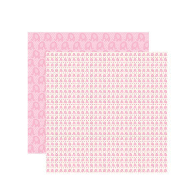 Reminisce Papers - Baby Basics - Baby Girl Elephant Shimmer - 2 Sheets