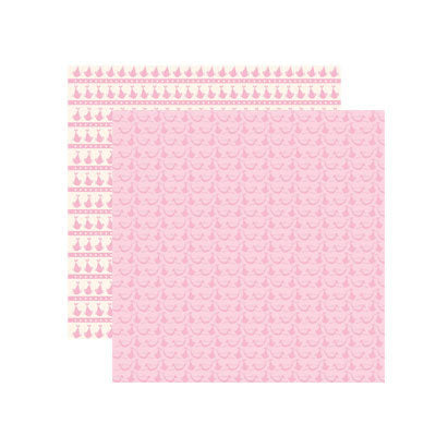 Reminisce Papers - Baby Basics - Baby Girl Delivery Shimmer - 2 Sheets