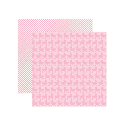 Reminisce Papers - Baby Basics - Baby Girl Pram Shimmer - 2 Sheets