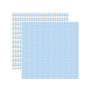 Reminisce Papers - Baby Basics - Baby Boy Delivery Shimmer - 2 Sheets