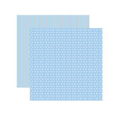 Reminisce Papers - Baby Basics - Baby Boy Hearts Shimmer - 2 Sheets