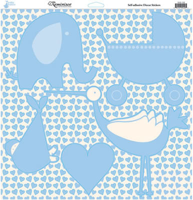 Reminisce 12x12 Cardstock Stickers - Baby Basics - Boy - Icons