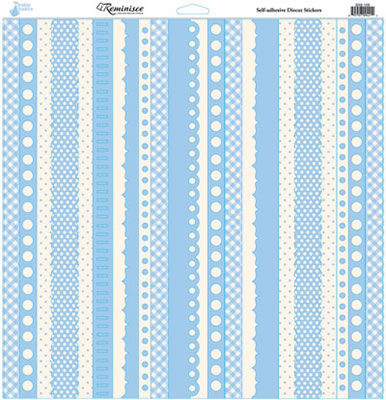Reminisce 12x12 Cardstock Stickers - Baby Basics - Boy - Borders