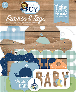 Echo Park Frames & Tags Die-Cuts - Baby Boy