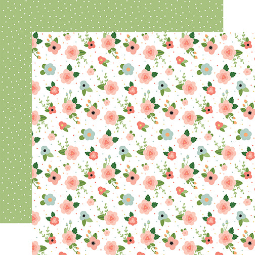 Echo Park Papers - Baby Girl - Newborn Floral - 2 Sheets