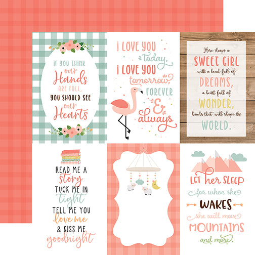 Echo Park Cut-Outs - Baby Girl - 4x6 Vertical Journaling Cards