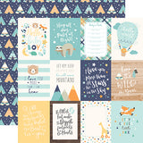 Echo Park Cut-Outs - Hello Baby Boy - 3x4 Journaling Cards