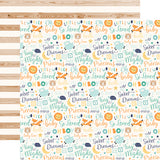 Echo Park Papers - Hello Baby Boy - Baby Boy Words - 2 Sheets