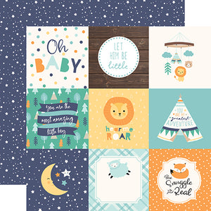 Echo Park Cut-Outs - Hello Baby Boy - 4x4 Journaling Cards