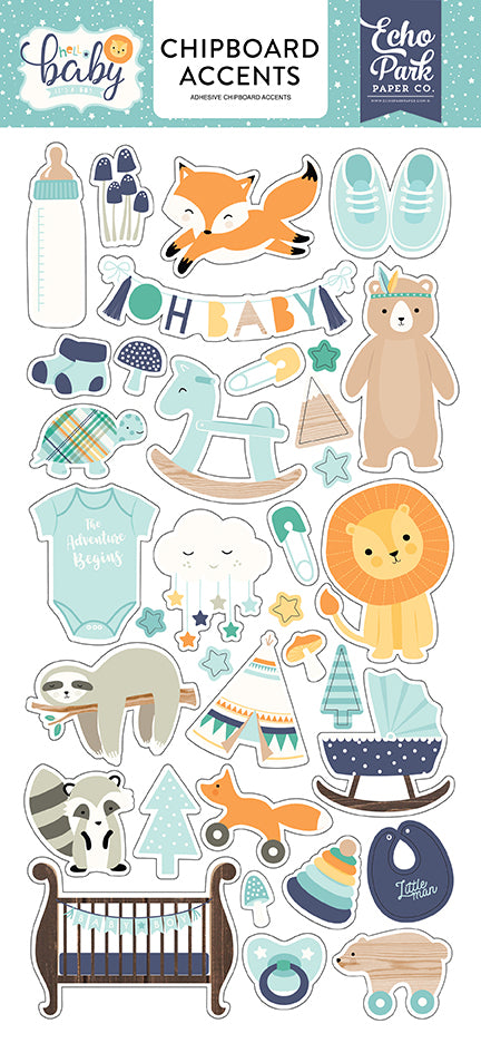 Echo Park Chipboard - Hello Baby Boy - Accents