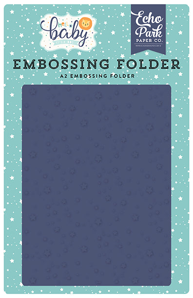 Echo Park Embossing Folder - Hello Baby Boy - Shining Stars