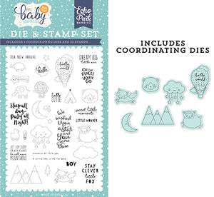 Echo Park Stamp and Die Set - Hello Baby Boy - New Arrival