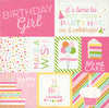 Echo Park Cut-Outs - Birthday Wishes Girl - Journaling Cards