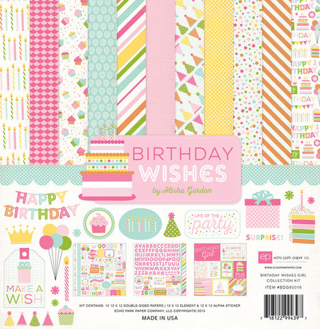 Echo Park Collection Kit - Birthday Wishes - Girl