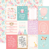 Echo Park Cut-Outs - Hello Baby Girl - 3x4 Journaling Cards