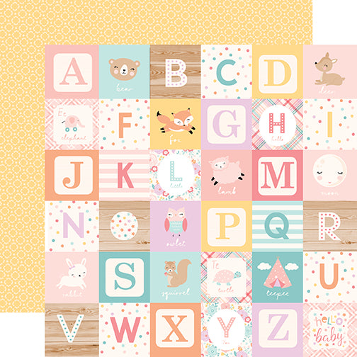 Echo Park Cut-Outs - Hello Baby Girl - Girl Alphabet Blocks